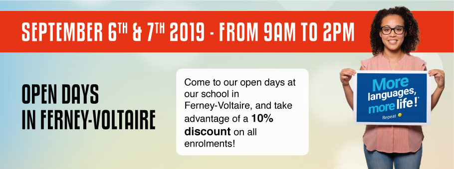 Open days in Ferney-Voltaire - 6th and 7th of September from 9AM to 2PM